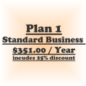Plan 1-Standard Business (Billed @ $ 351/yr